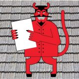 Beware of unprofessional roofing contractors following a storm or hurricane.